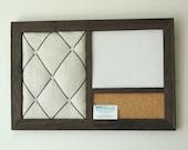Corkboard, Magnetic Whiteboard Dry Erase Board & French Memo Board Wall Organizer  Dorm Decor