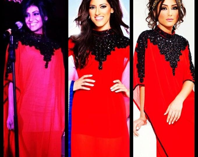 "Yara Yosif original ""Aisha"" Kaftan Caftan Maxi wedding bridal engagement henna gown dress dubai fashion"