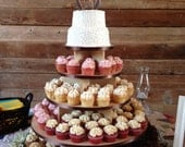 5 Tier Large Cupcake Stand Unpainted MDF 150 Cupcakes Wood Cupcake Tower Wedding Stand Birthday Stand