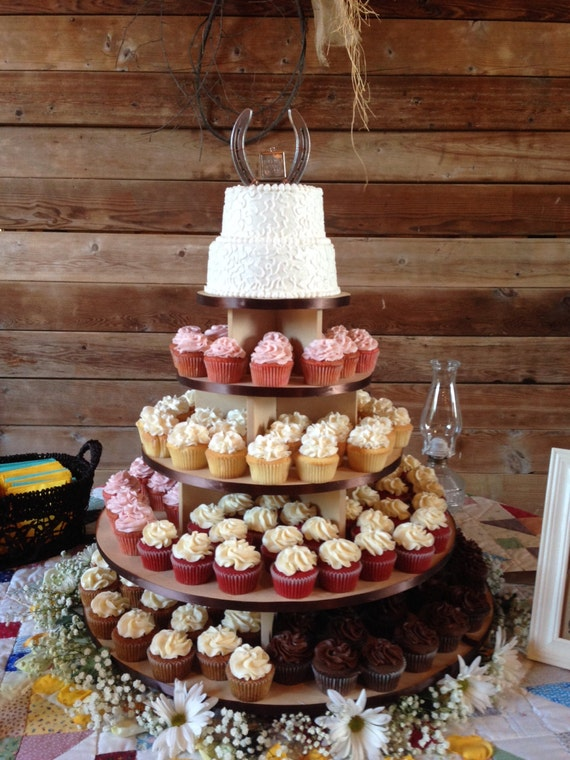 rustic wedding cake and cupcake ideas 5 tier large cupcake stand unpainted mdf 150 cupcakes wood 19519