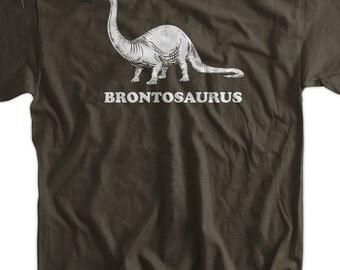 Brontosaurus Geek Nerd Dinosaur Screen Printed T-Shirt Mens Ladies Womens Youth Funny Geek Science Kids School