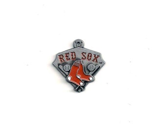 MLB Charm: Boston Red Sox, MLB Pendant, 23x21mm, Baseball Charm, MLB014