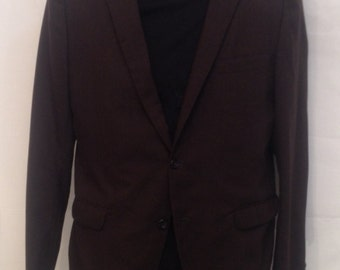 Men's Vintage Brown Sports Coat by Sorento Tropical Suits Size 44