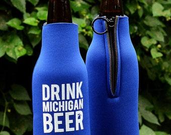 Drink Michigan Beer Cozy