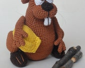 Amigurumi Crochet Pattern - Bob the Beaver
