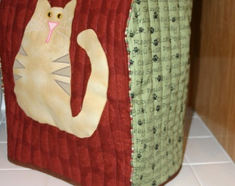 Craft Pattern for: Cat Applique or Crazy Quilted Sewing Machine Cover, KitchenAid Cover, Cat Face Pin Cushion, Sew organizer, McCalls #5017