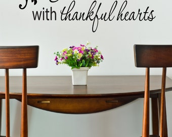 Thanksgiving decals gather together decal kitchen for Best dining room quotes
