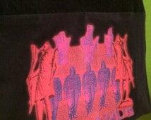 SALE - The Mars Volta Bag Upcycled T-shirt Purse Black Hobo Handbag