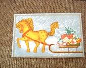 Vintage Christmas post card,  Blank Christmas postcard