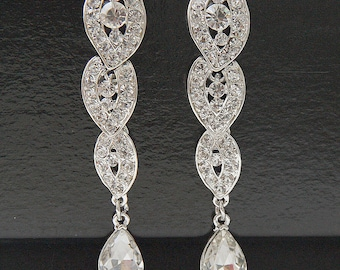 Bridal Earrings, Bridal Crystal Earrings, Bridal Earrings Crystal, Swarovski Drop Dangle Bridal Earrings, Crystal Earrings, Wedding Earrings