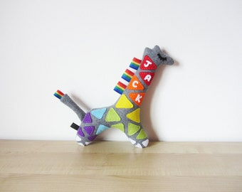 Personalised Baby Toy: Name Giraffe