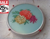 SALE 25% OFF Soviet Vintage Rotary Cake Plate With Flowers Made in USSR in 1970s.