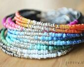 NEW Colors // Dainty Friendship Bracelet // Adjustable // Ombre (1)
