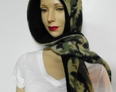 Hooded Scarf, Reversible - Camouflage