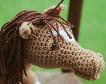 crocheted stuffed horse