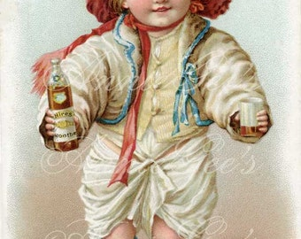 Hires Root Beer Baby Trading Card  - Instant Digital Download D222A