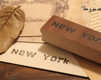 Korean wooden wood square New York Rubber Stamp Set stamp up stampin up