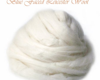 SALE Blue Faced Leicester BFL Soft Roving Wool Spinning Undyed Fiber - 1 lb