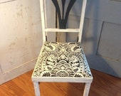 Folding Chair - Depression Era, Damask, Distressed, Aged to Perfection