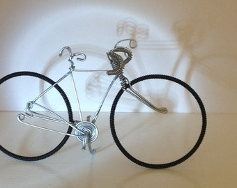 Racer Wire Bicycle Sculpture cake topper