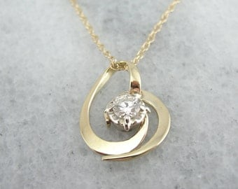 Diamond and Gold Pendant from Vintage Components, Lovely Chain FY8FZX-P