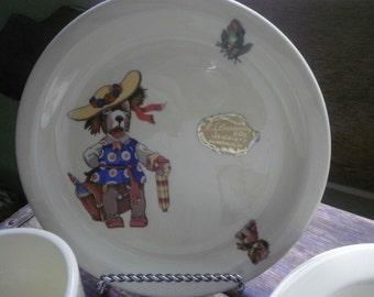 Canonsburg Pottery Co USA Child's 3 Piece Dinnerwear