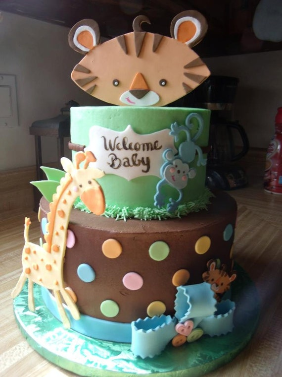 Safari Animals Cake Safari Animals Fondant Cake