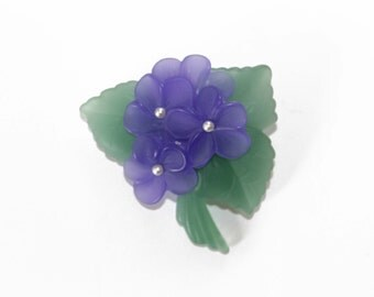 Avon Violet Brooch - Vintage Purple Flower Brooch