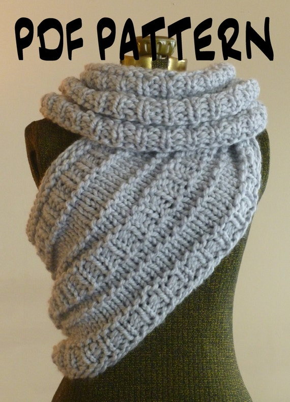 INSTANT DOWNLOAD Knitting PATTERN The Huntress Cowl, Knitted Cowl Wrap Patter...