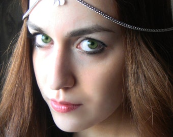 CHAIN HEADPIECE Head Chain, headdress boho chic head piece / head chain / headband