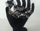 Black and Silver Chunky Hearts Bracelet