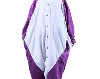 KIGURUMI Animal Pajamas Pyjamas Costume  Adult  Kid SLOTH  Violet Panda