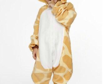 Halloween KIGURUMI Animal Pajamas Pyjamas Costume Kid SLOTH  giraffe