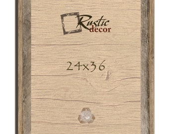 24x36 2 wide rustic barn wood signature wall frame