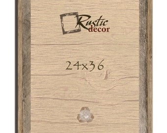 "24x36-2"" wide Rustic Barn Wood Signature Wall Frame"