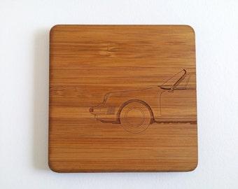 Wooden Porsche 911 Coasters