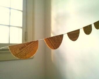 Romance Novel Book Paper Garland- 6 ft.- Wedding/Party Decoration