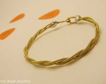 Guitar String Bracelet - Braided Strings