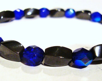 Blue magnet braclet
