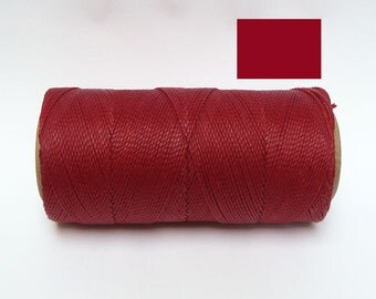 RED Macrame Cord - Waxed String - Polyester Twine - Linhasita  Spool of 188 yards - cor 50