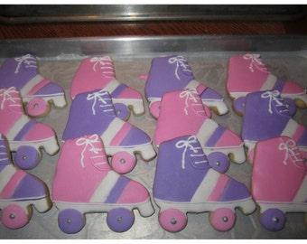 Roller Skate Shaped Cookies