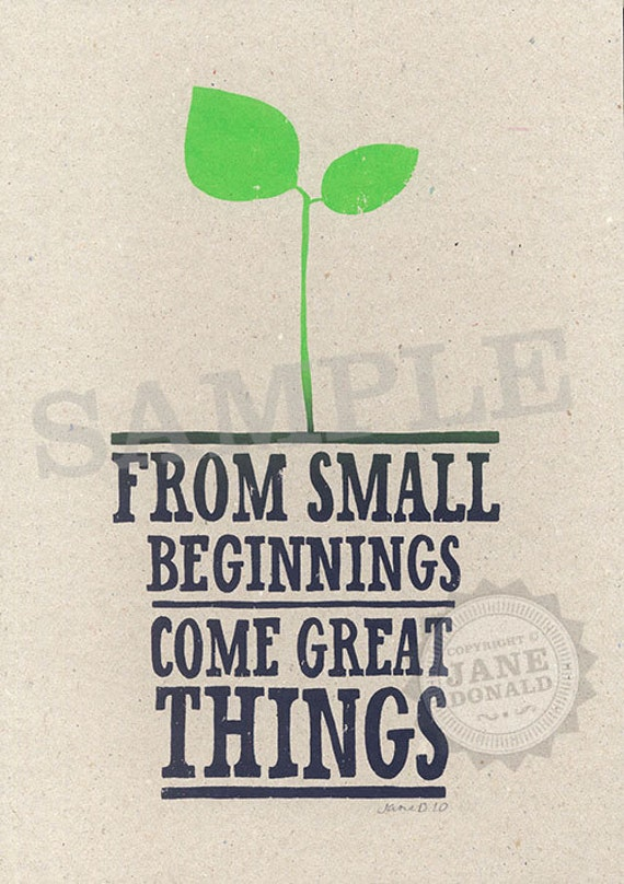 from small beginnings - photo #10