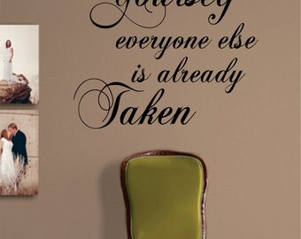 Be Yourself Quote Decal Sticker Wall Vinyl Art