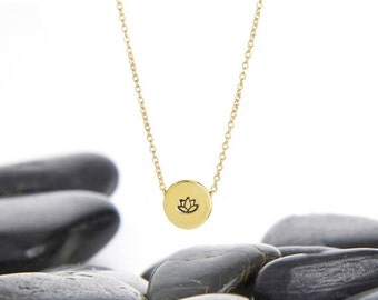 Lotus Flower, Lotus Jewelry, Lotus Necklace, Lotus Flower Necklace, Yoga Jewelry, Yoga Necklace, Lotus Flower Charm, Yoga Gift