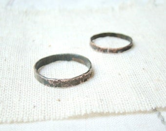 His and her ring set, Hammered Matching Wedding Band , Alternative Wedding Bands, Matching Couple Rings