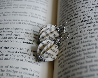 Upcycled Spherical Book Paper Earrings, Paper Earrings, Stylish Earrings, Best Seller Earrings