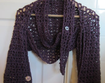 Crochet Pattern  Lace Scarf Shrug Fall Winter Spring Summer