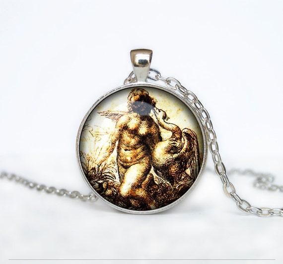 Davinci Charm Bracelet: Da Vinci Drawing Necklace Leonardo Da Vinci Drawing Pendant