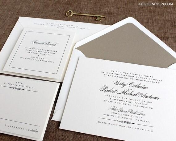 Formal Wording For Wedding Invitations: Formal Wedding Invitations Classic Wedding Invitations Black