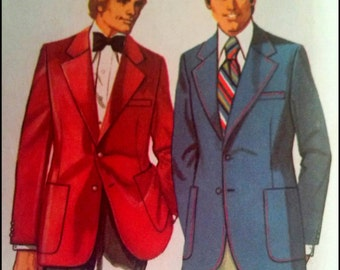 Simplicity 5217  Men's Proportioned Jacket  Size 46  Waist  42  UNCUT
